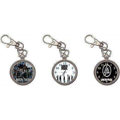 Linkin Park Silver Key Ring Chain Pocket Watch