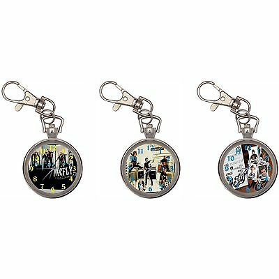 Mcfly Silver Key Ring Chain Pocket Watch