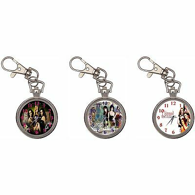 Charmed Silver Key Ring Chain Pocket Watch