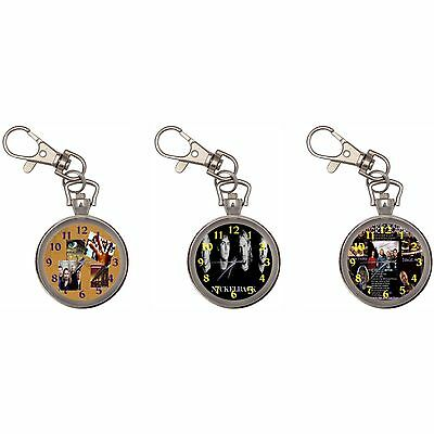 Nickelback Silver Key Ring Chain Pocket Watch