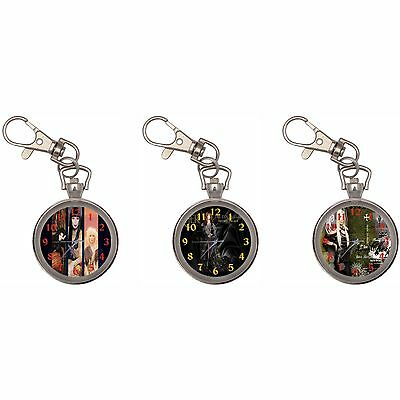 Cher Silver Key Ring Chain Pocket Watch