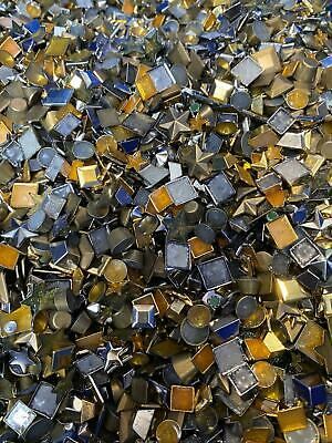 Mixed Metal Iron on Hot Fix Studs Shoes Bags Belts Clothing Crafts Decoration UK