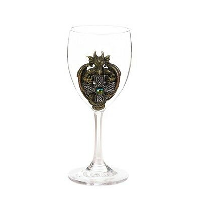 Green Dragon Glass Goblet Medieval Gem Perfect Addition to Dining Room WOW