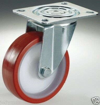 Wheels Wheel Nylon Coverage Polyurethane Bracket Turning d.mm.80 Capacity Kg100