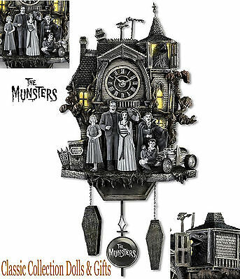 Bradford Exchange-'the Munsters®' Officially Licensed Cuckoo Clock-New-In Stock!
