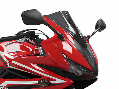 Honda CBR500R 16-17 Dark Smoke Double Bubble Screen