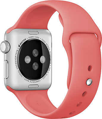 GENUINE APPLE WATCH STRAP MJ4T2ZM/A 42mm Sport Band w/Stainless Steel Pin - Pink