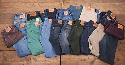 20 x Pairs Mens Womens Wholesale Vintage Levis Levi 501 GRADE A JEANS Job Lot L2