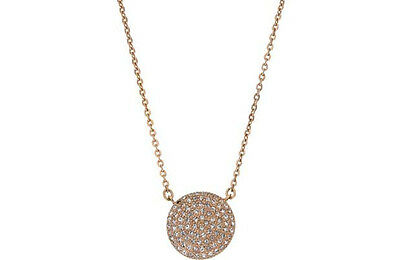 Luxury Diva Shimla Stainless Steel Rose Coloured Pendant With Faux Suede Boxes