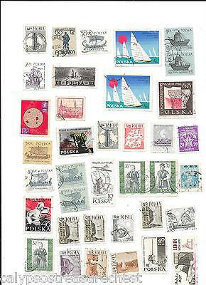 WORLD STAMPS POLSKA POLAND STAMPS 1960s - LOT OF 45 STAMPS - COMBINED POST