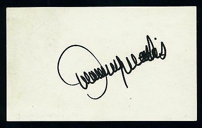 Johnny Mathis Singer, Songwriter, Actor Signed 3x5 Index Card C10902