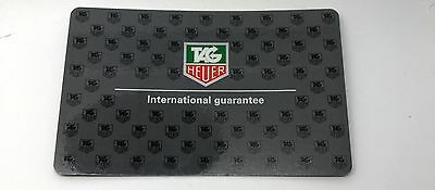 Unused Blank Tag Heuer Grey International Warranty Card