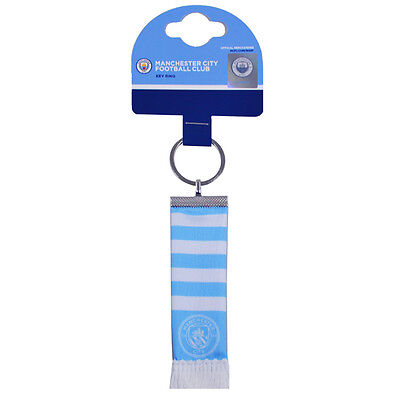 Official Licensed Football Product Manchester City Bar Scarf Keyring Gift New