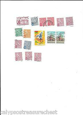 WORLD STAMPS FINLAND SUOMI STAMPS 1960s - LOT OF 16 STAMPS - COMBINED POST