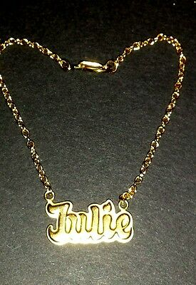 American Girl JULIE replacement gold tone Necklace nameplate