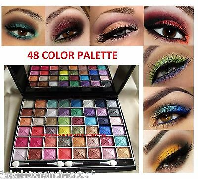 48 Color Eye Shadow Makeup Cosmetic Shimmer Matte Eyeshadow Palette NUDE Set