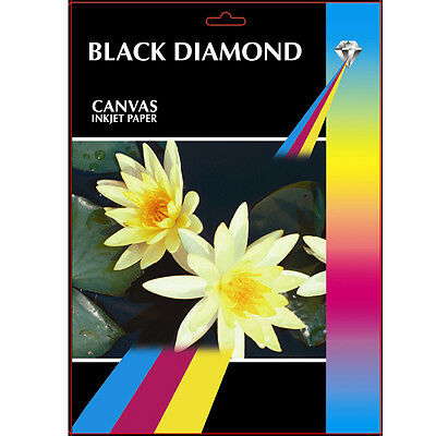 Black Diamond Canvas A3 Professional Grade Photo Paper // 220gsm // 20 Sheets