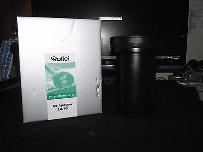 ROLLEI 90mm F2.8 AV-APOGON - FOR SYSTEM ROLLEIVISION 66 , MINT BOXED!!!!!!!!