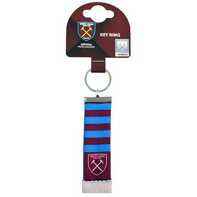 Official Licensed Football Product West Ham United Bar Scarf Keyring Gift New