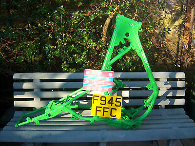 Kawasaki Kmx200 Frame With Log Book F Plate Kmx 200 Frame