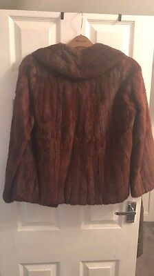 Vintage Real Mink Fur Coat