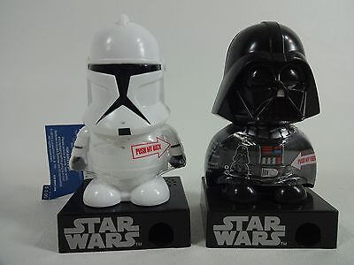 Star Wars: Galerie - LOT of 2 CANDY DISPENSER figures **w/Tags & Candy** (2011)