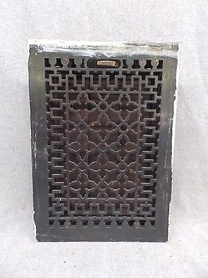 Antique Steel Top Cast Iron Heat Grate Vent Register Decorative Vtg 8x12 32-17R