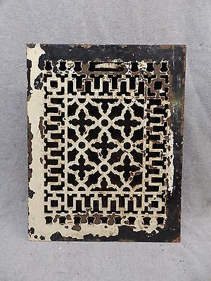 Antique Cast Iron Heat Grate Vent Register Old Decorative Vintage 9x12 33-17R