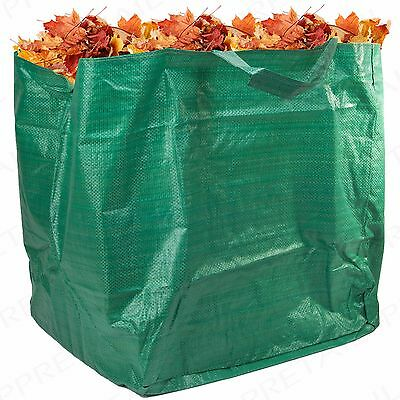 5 STRONG HEAVY DUTY GARDEN WASTE BAGS Reusable 90L Leaves/Cut Grass Rubbish Sack