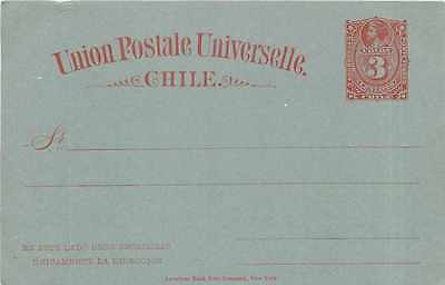 Entier Postal Stationary Chili Chile  3c