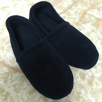 Mens Slippers Xl Size 13 Navy Blue