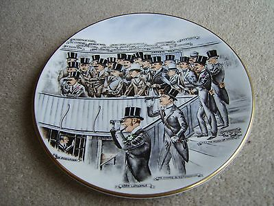 They're Off Royal Grafton / Heimers Ltd Bone China plate, 1926 Epsom Derby