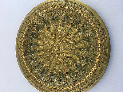 Antique Mid Eastern Turkish Ornate Brass Charger