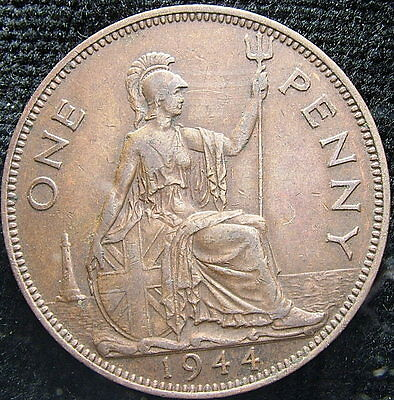 1944  United Kingdom   One penny