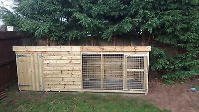 10 x 4 x 4ft tall tanalised dog kennel and run