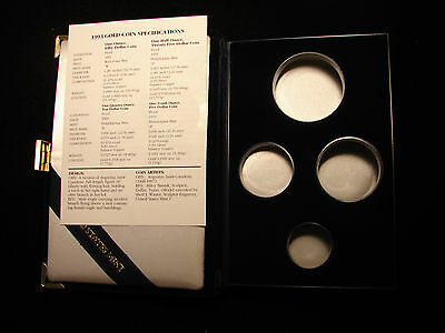 1993 W & P American Eagle Gold Four Coin Set Proof Box and COA, OGP - NO COIN