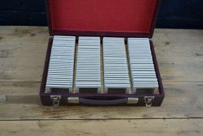 Vintage Wooden Paterson Case Complete With 120 X 35Mm Glass Slides