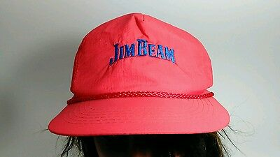 fa2d3050 VINTAGE JIM BEAM Red With Blue Embroidery Baseball Cap Hat - $17.97 ...