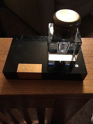 Vintage MONTBLANC MEISTERSTUCK Crystal Inkwell and Base
