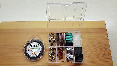 20lb Pike & Game Fishing Trace Making Kit.300 Pieces + a 10 Section Tackle Box