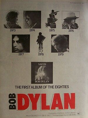 BOB DYLAN THE BAND 1980 Poster Ad SAVED