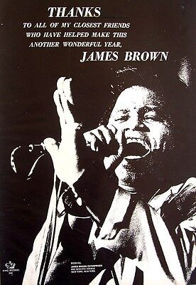 JAMES BROWN 1968 Poster Ad THANKS FOR A WONDERFUL YEAR