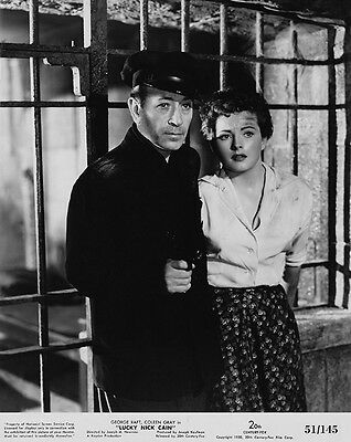 George Raft, Coleen Gray - Lucky Nick Cain, (1951)   - 8 1/2 x 11