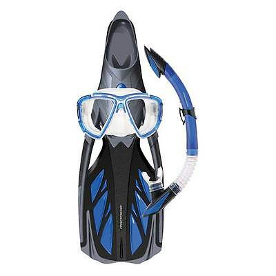 Mirage Platinum Silicone Snorkel Mask Fin Package BLUE Size XL LAST ONE