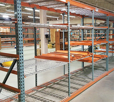 Used Teardrop Pallet Rack Shelving - Medium Duty 27 sections available.