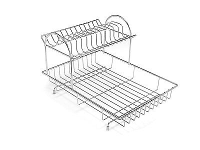 Addis 2-Tier Drainer Dish Draining Rack Stainless Steel * Brand New * Fast Del