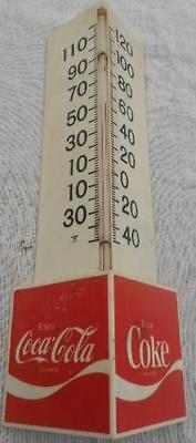 Coca Cola Stand Up Plastic  Advertising Thermometer