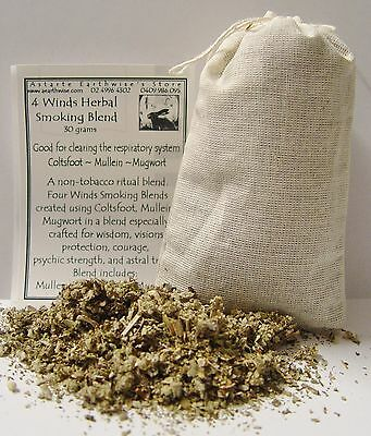 HERB: FOUR WINDS HERBAL 30 grams SMOKEABLE Wicca Witch Pagan Goth  Spell Altar