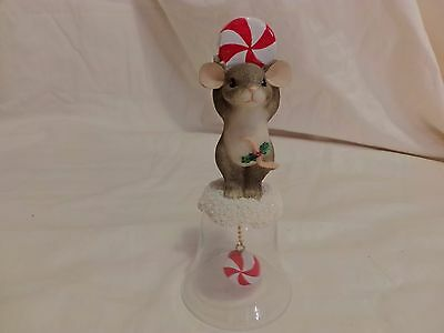 CHARMING TAILS PEPPERMINT Candy Cane Bell 93/420 DEAN GRIFF(T10)