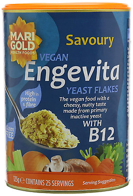 Engevita Savourycondiment Nutritional Yeast Flakes With B12 125G Pack Of 3